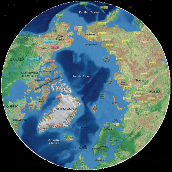 Map Arctic Thule